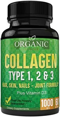 Superior Quality Collagen Pills Type 1, 2 & 3 120 Potent Softgels, Non-GMO, Max Grade Collagen Skin Health, Hair, Bones