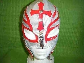 SOPHZZZZ TOY SHOP Máscara de lucha Rey Mysterio plata infantil Cremallera Disfraz Disfraz SERIE MEXICANO Luchador