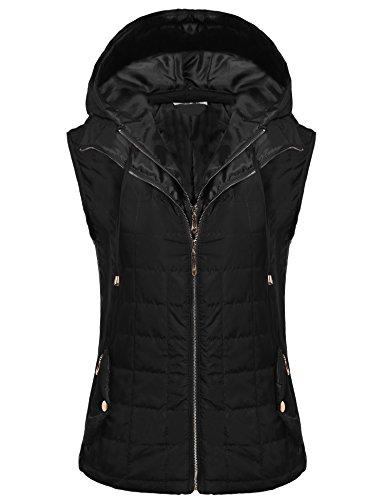 Winter Vest Jacket (Beyove Women Lightweight Outdoor Quilted Puffer Vest Hoodie Jacket)