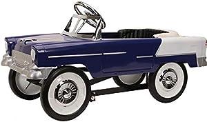 Blue Diamond Classics 1955 Chevy Pedal Car - Purple / White