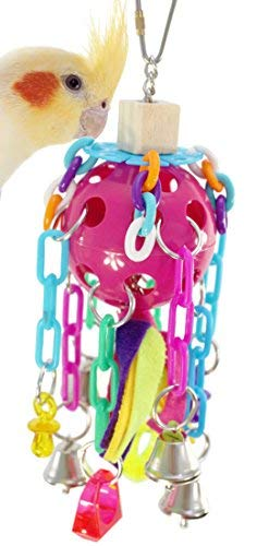 Bonka Bird Toys 1681 Bizzy Chains Bird Toy Parrot cage Toys Cages African Grey Conure Cockatiel