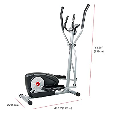 Body Champ Magnetic Elliptical Machine Exercise Trainer with Computer Resistance and Programs / Space saving Compact