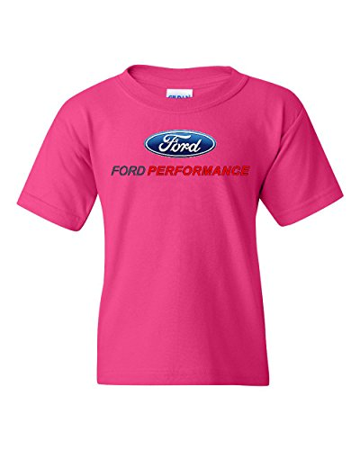 (Ford Performance Youth T-Shirt Ford Mustang GT ST Racing Tee Pink S)