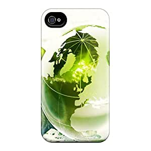 Fashionable ADdLiwc6570Ktymf Iphone 4/4s Case Cover For Green Planet Protective Case