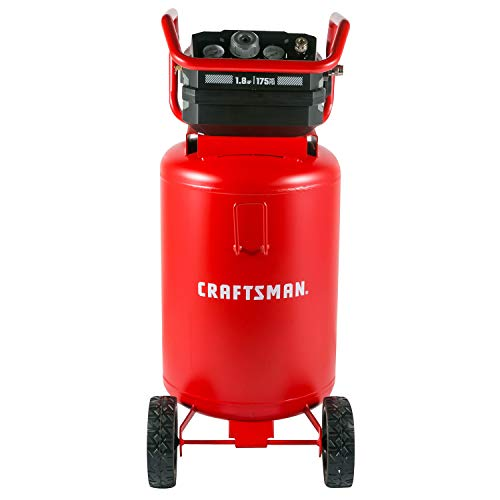 Craftsman Air Compressor, 20 Gallon, 1.8 HP, Oil-Free Air Tools, Max 175 PSI Pressure, 2 Quick Coupler, Long Lifecycle Low Noise, Model: CMXECXA0232043