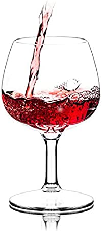 Copas de vino de plástico robustas, copas de vino tinto, copas clásicas para camping, aptas para lavavajillas, sin BPA, 250 ml, juego de dos piezas A-250 ml