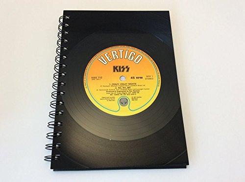 Kiss, Crazy Crazy Nights, Vinyl Record A5 Notebook gift