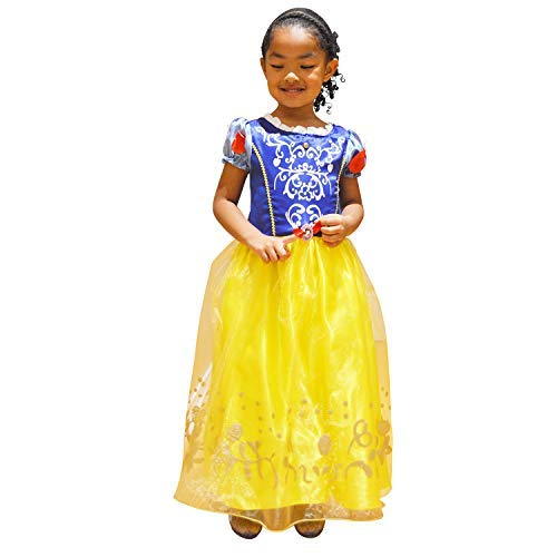 Princess Nori Snow White Princess Dress Costume for Girls Age 2 to 6 (Satin/Cotton Blend) (x Large)]()