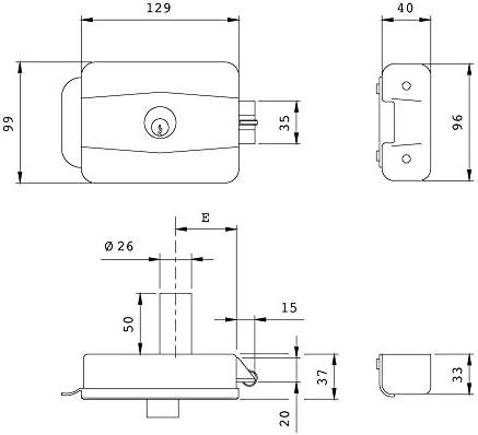 ISEO 3170900 Cerradura 500-60 mm. Eléctrica Cilindro: Amazon.es: Bricolaje y herramientas