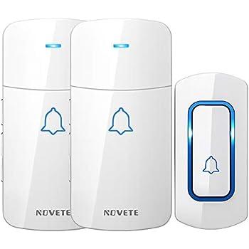Wireless Doorbell, AVANTEK D-3W Waterproof Door Chime Kit ...