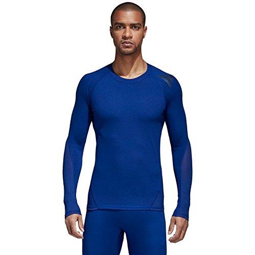 adidas Mens Training Alphaskin Sport Long Sleeve Tee, Mystery Ink, Large