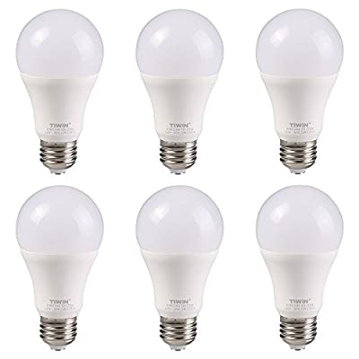 TIWIN A19 E26 LED Bulbs 11w ( 100 Watt Equivalent ) , CRI80+, General Purpose Light Bulb