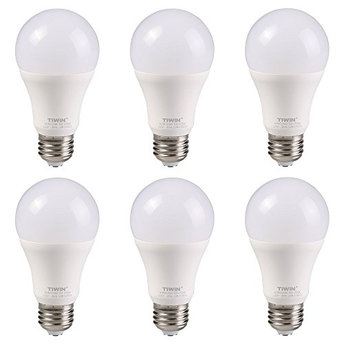 TIWIN A19 E26 LED Light Bulbs 11w ( 100 Watt Equivalent ) ,1100lm, CRI80+, General Purpose LED Bulb, UL Listed