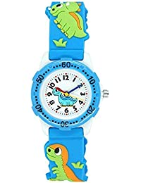 Kids Watch for Boys Girls, Toddler Watch Digital Analog Wrist Waterproof Watches with 3D Cute Cartoon Silicone Band, Best Gift for 3-10 Years Old Childrens (A Dinosaur Blue)