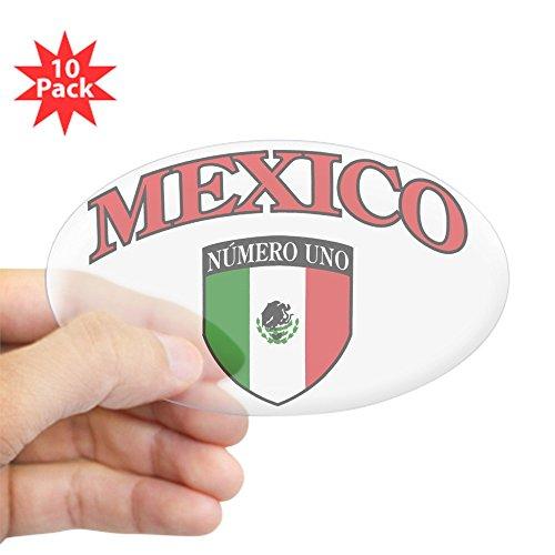 Sticker Clear (Oval) (10 Pack) Mexico Numero Uno Mexican - Numero De Mexico