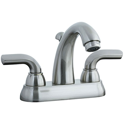 (Cifial 295.115.620 Stone Mountain Centerset Bathroom Faucet with Lever Handles, Satin Nickel)