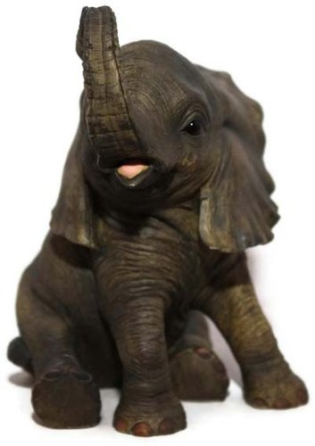 Baby Elephant Sitting Ornament by Out Of Africa