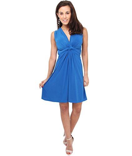 KRISP Vestido Corto Mujer Vuelo Casual Tallas Grandes Joven Elegante Otoño Azul Eléctrico