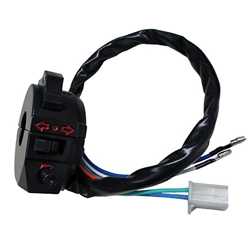 Bmw Switch Turn Signal (QAZAKY Control Turn Signal Horn Light Low High Beam Left Switch for Dirt Bike ATV Honda Suzuki Yamaha Kawasaki KTM Kymco Polaris Universal 520 450 530 500 wr wrf xr 600 650 dr drz 7/8