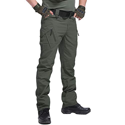 CARWORNIC Men's Outdoor Tactical Pants Rip-Stop Lightweight Stretch Military Cargo Work Hiking Pants