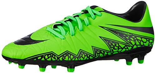 Nike Hypervenom Phelon II FG Mens Football Boots 749896 Soccer Cleats (UK 10 US 11 EU 45, Green Strike Black Black 307) (2015 Soccer Shoes Men Nike)