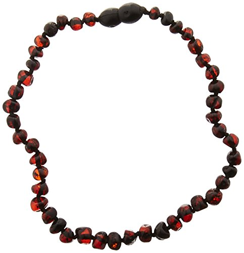 Momma Goose Baroque Teething Necklace, Dark Cherry, Small/11-11.5'' by Momma Goose