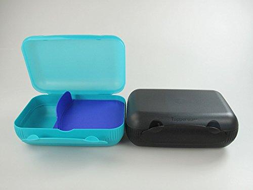 Turchese Contenitore per Il Pranzo per Bambine Tupperware to Go Twin Colore