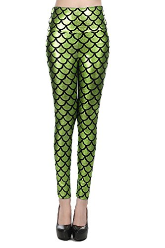 Nihoe Womens Metallic Mermaid Legging product image
