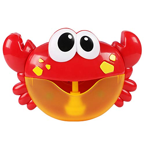 Price comparison product image Gosear Bubble Machine, Bubble Blower, Bubble Maker Cute Funny Crab Shape Music Bubble Maker Machine Blower Toy with 12 Songs for Children Kids Baby Showers Bath Swimming Pool Bathtub