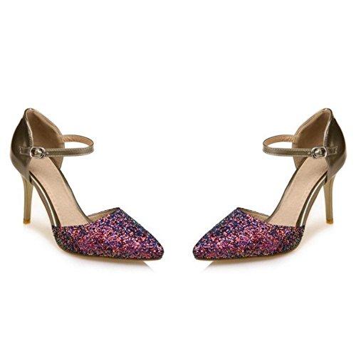 Gold Femmes 9 Sandales Pointu TAOFFEN d0wqt0