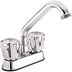 Belanger 3040W Laundry Tub Faucet with Dual-Handle, Swivel Spout and Hose End, Chrome
