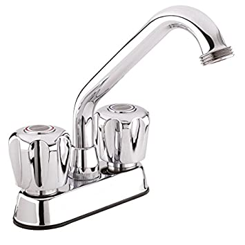 Belanger 3040W Laundry Tub Faucet with Dual-Handle, Swivel Spout and ...