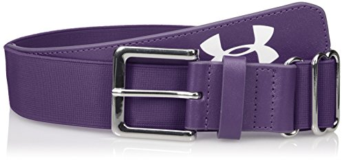 Under Armour Mens Baseball Belt, Purple/Purple, One Size