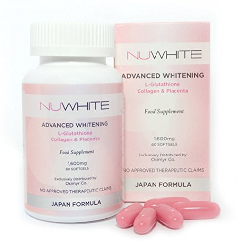 Nuwhite Advanced Whitening L-Glutathione Collagen & Placenta, 60 Capsules