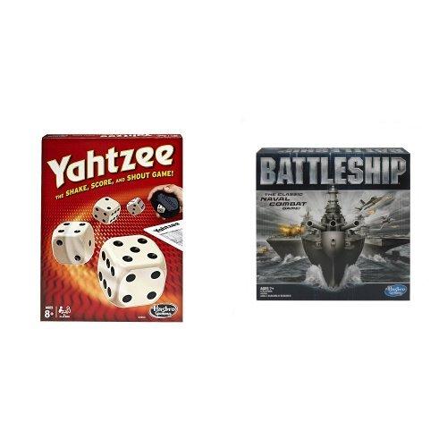 Hasbro Yahtzee Classic and Battleship Game Bundle
