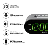SHARP Digital Easy to Read Alarm Clock with 2 AMP