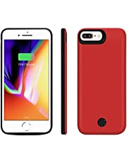 Backup Battery Charger Case 7,800 mAh for iPhone Plus 8/7/6S/6 Power Bank Protection Cover with Earphone Function and Data Sync, Black