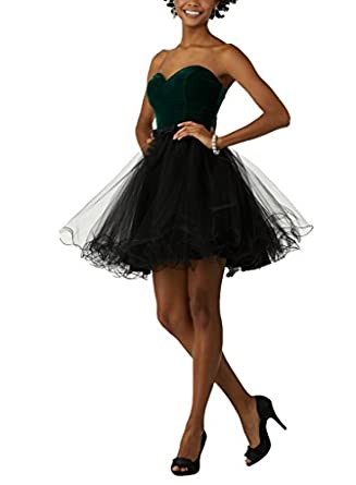 AngelaLove Velvet Sweetheart Prom Dresses Ball Gown Homecoming Party Dress Short Prom Dress at Amazon Womens Clothing store: