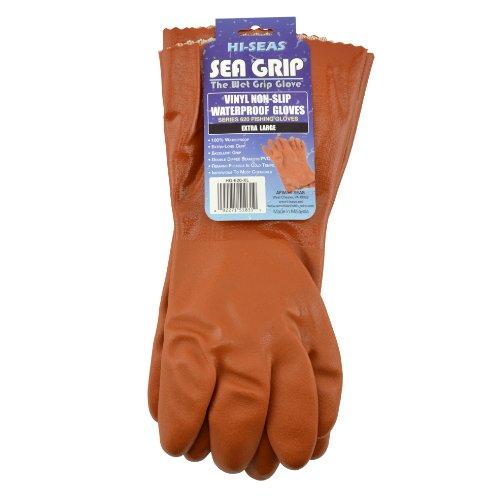Hi-Seas Sea Grip Vinyl Waterproof Glove, Extra Large Size, Orange