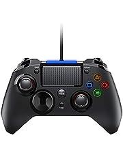 TOPELEK Manette Dual Shock, Manette PS4 avec Trigger pour PS4 / PS3 / PC (Windows XP / 7/8 / 8.1/10) / Android/Steam, Noir