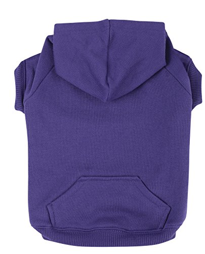 - Zack & Zoey Polyester/Cotton Basic Dog Hoodie, Medium, 16-Inch Ultra Violet