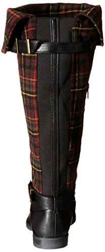 Bella Vita Womens Romy II Winter Boot Black/Burgundy Plaid Flannel