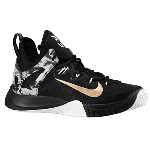 e6d2a4fdb185 Nike Zoom Hyperrev 2015 (Paul George Limited Edition) (Black Metallic Gold-White)  (10.5) (B00RYY7B1G)