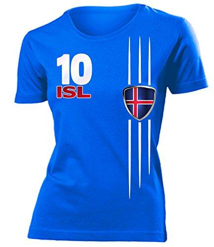 FUSSBALL - ISLAND FANSHIRT 4299(F-B) Gr. S