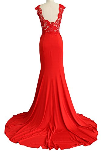 Party Women Long Formal Gown Evening Mermaid Lace Dress Jersey MACloth Prom Lavendel 2017 SzqdS
