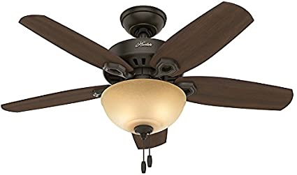 Hunter 52218 traditional builder small room new bronze ceiling fan hunter 52218 traditional builder small room new bronze ceiling fan with light 42quot aloadofball Gallery