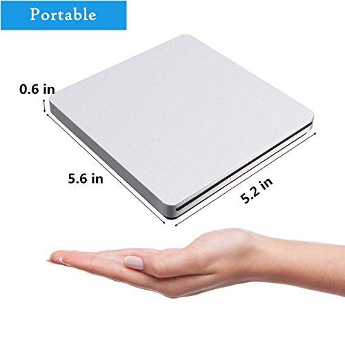 External CD DVD Drive,ONCHOICE USB 2.0 External Disc Optical Drive, Slim CD/DVD-RW Writer Player Burner for Windows OS, Laptop Desktop PC by ONCHOICE (Image #5)