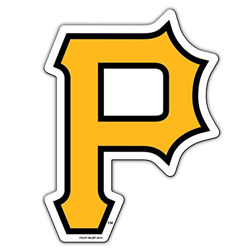 "Official Major League Baseball Fan Shop Authentic 12"" Jumbo MLB Auto Magnet Banner Logo (Pittsburgh Pirates ""P Logo)"