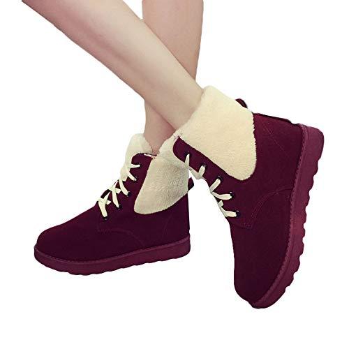 Lacets Pour Bouts 43 Keep Du Ronds Femmes À formes D'hiver 35 Femmes bottes cuissardes Femme Warm Plates Vin Boots Taille Courtes qwgIU607