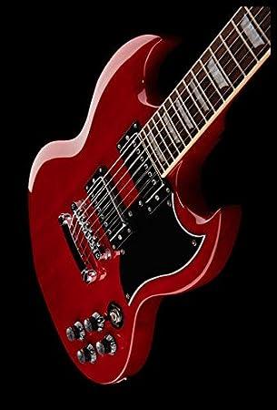 Guitarra eléctrica Benton dc-580 CH Vintage + Bolsa): Amazon.es ...